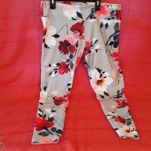 Fabletics floral leggings sz L New